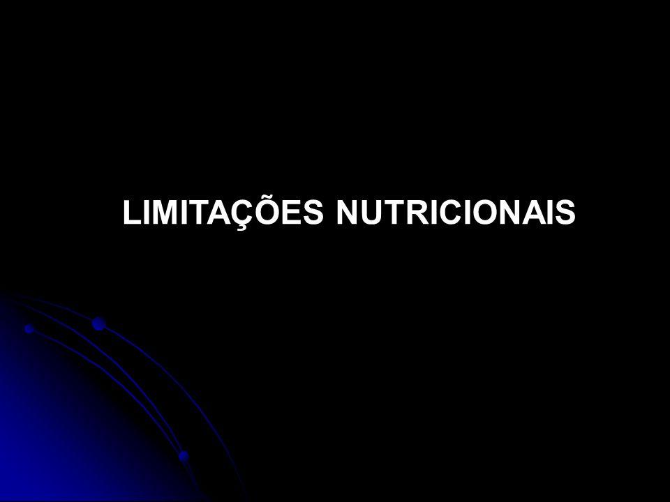LIMITAÇÕES NUTRICIONAIS