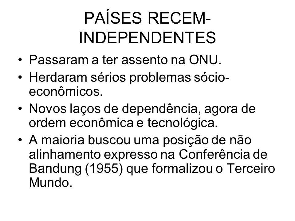 GUERRA FRIA Substituiu o Sistema de Alianças pelo Sistema de Blocos e caracterizou-se por conflitos periféricos.