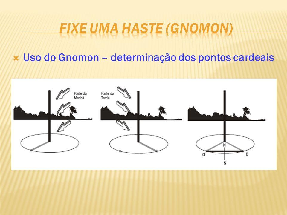 Uso do Gnomon – determinação dos pontos cardeais