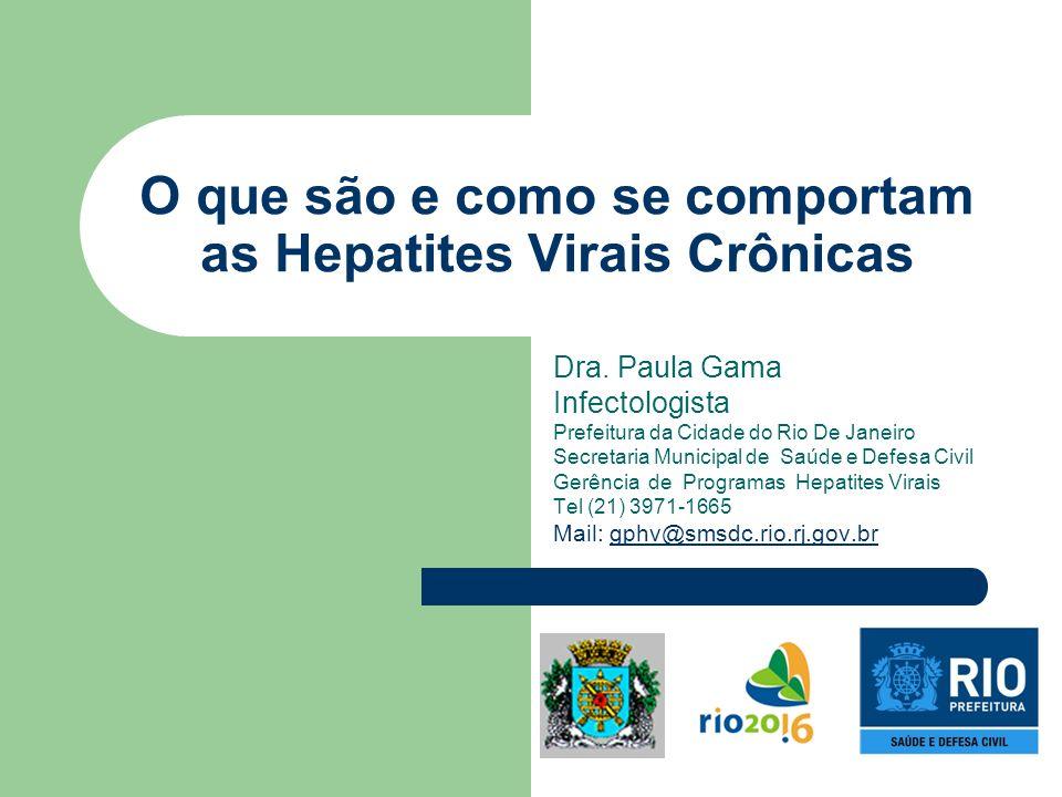 O que são e como se comportam as Hepatites Virais Crônicas Dra. Paula Gama Infectologista Prefeitura da Cidade do Rio De Janeiro Secretaria Municipal
