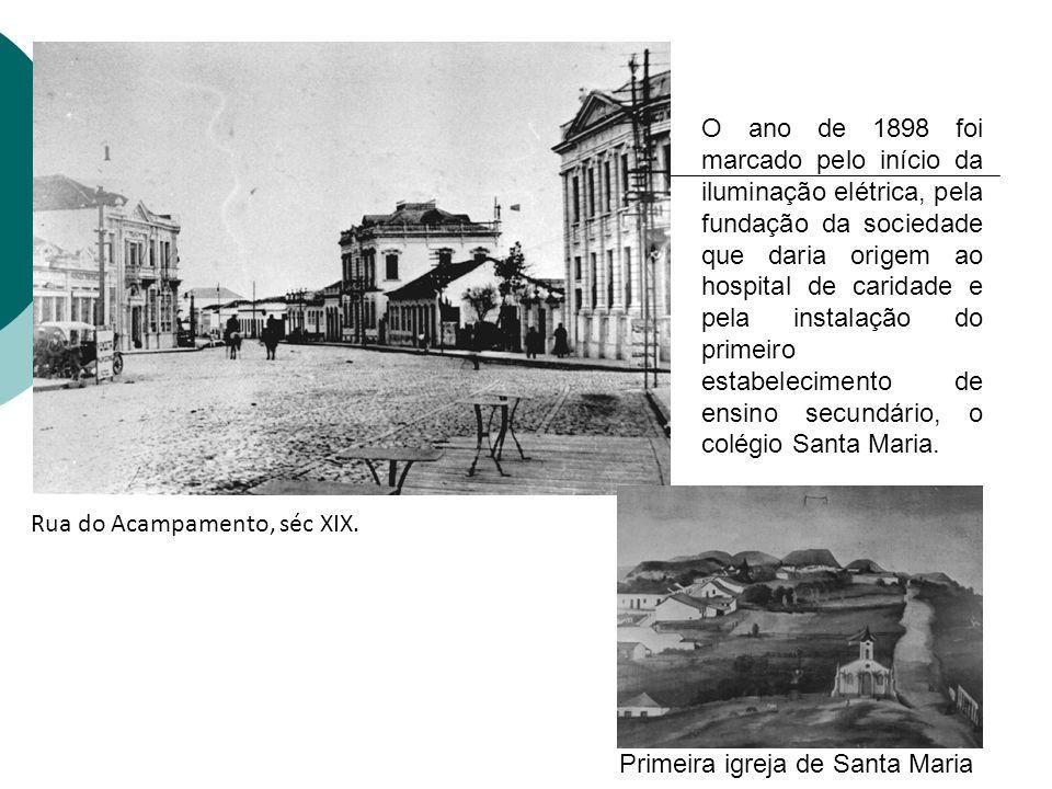 O ano de 1898 foi marcado pelo início da iluminação elétrica, pela fundação da sociedade que daria origem ao hospital de caridade e pela instalação do