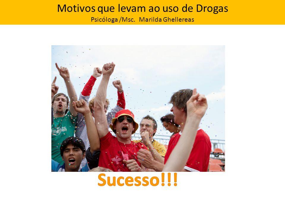 Motivos que levam ao uso de Drogas Psicóloga /Msc. Marilda Ghellereas