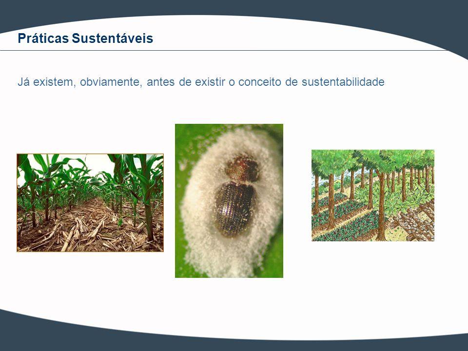 Práticas Sustentáveis Já existem, obviamente, antes de existir o conceito de sustentabilidade
