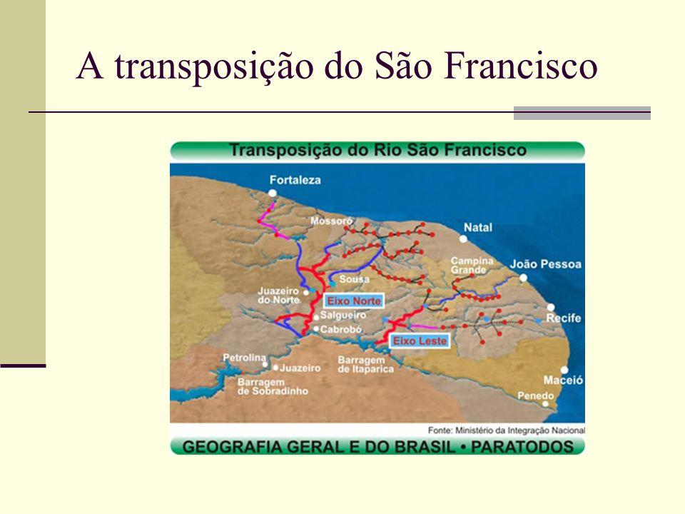 A transposição do São Francisco