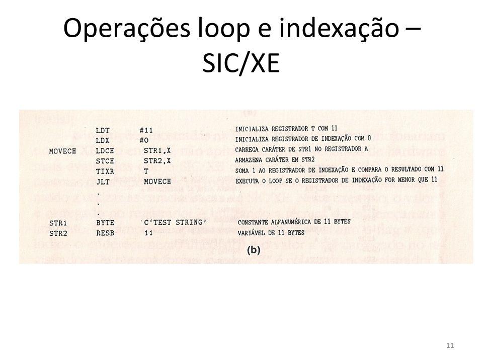 Operações loop e indexação – SIC/XE 11