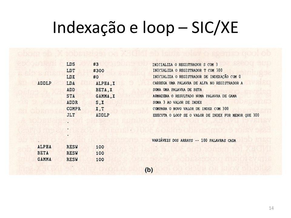 Indexação e loop – SIC/XE 14