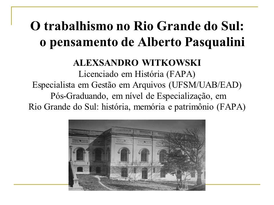ALEXSANDRO WITKOWSKI Licenciado em História (FAPA) Especialista em Gestão em Arquivos (UFSM/UAB/EAD) Pós-Graduando, em nível de Especialização, em Rio