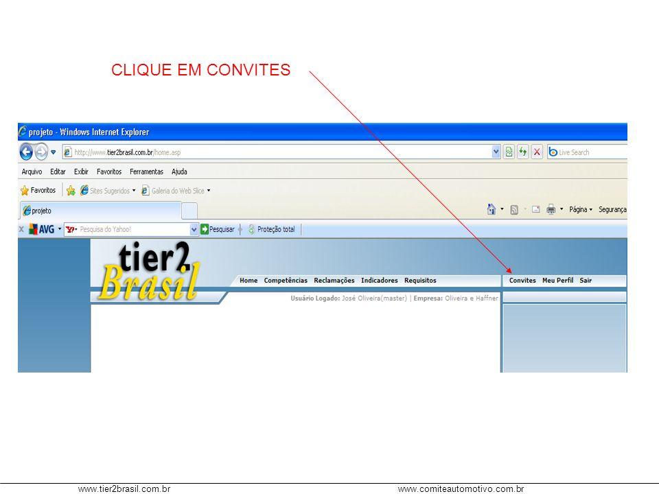 www.tier2brasil.com.brwww.comiteautomotivo.com.br CLIQUE EM VALIDAR CONVITE