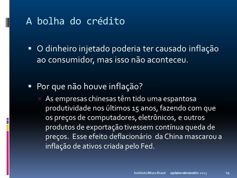 A bolha do crédito E como terceira causa não podemos deixar de ressaltar as regras determinadas pelo obscuro Secretariat do Comitê da Basiléia, que in
