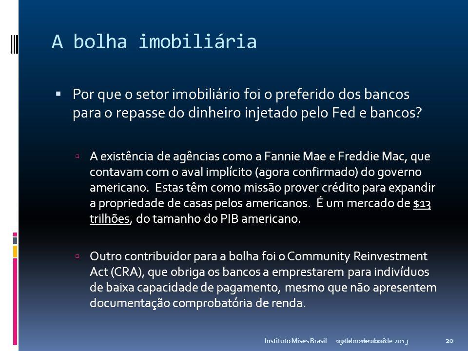 A bolha do crédito O dinheiro injetado poderia ter causado inflação ao consumidor, mas isso não aconteceu. Por que não houve inflação? As empresas chi