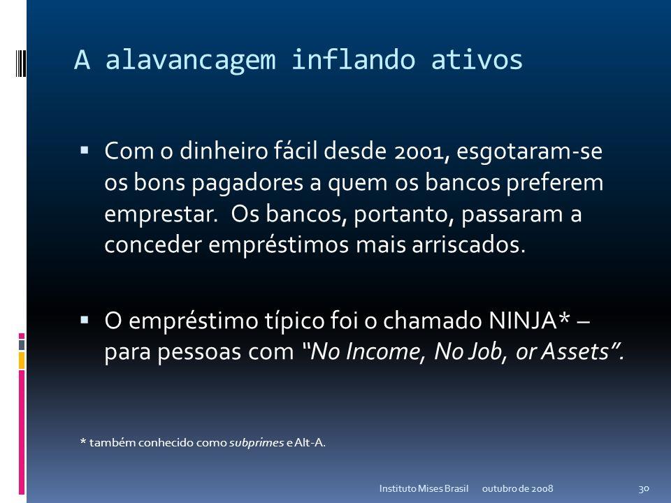 13 de novembro de 2013Instituto Mises Brasil 29 A Libor vs Treasury Bills 3 meses (2004-presente) outubro de 2008 29 Instituto Mises Brasil