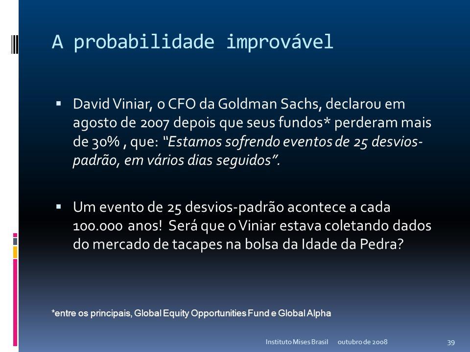 A criação de Wall Street... outubro de 2008Instituto Mises Brasil 38