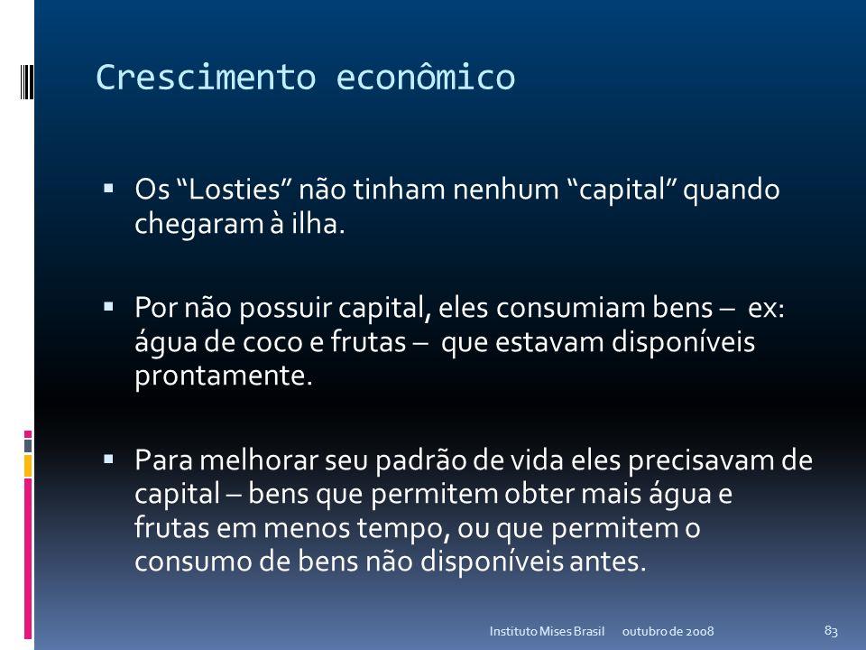 Como acontece o crescimento econômico? outubro de 2008Instituto Mises Brasil 82