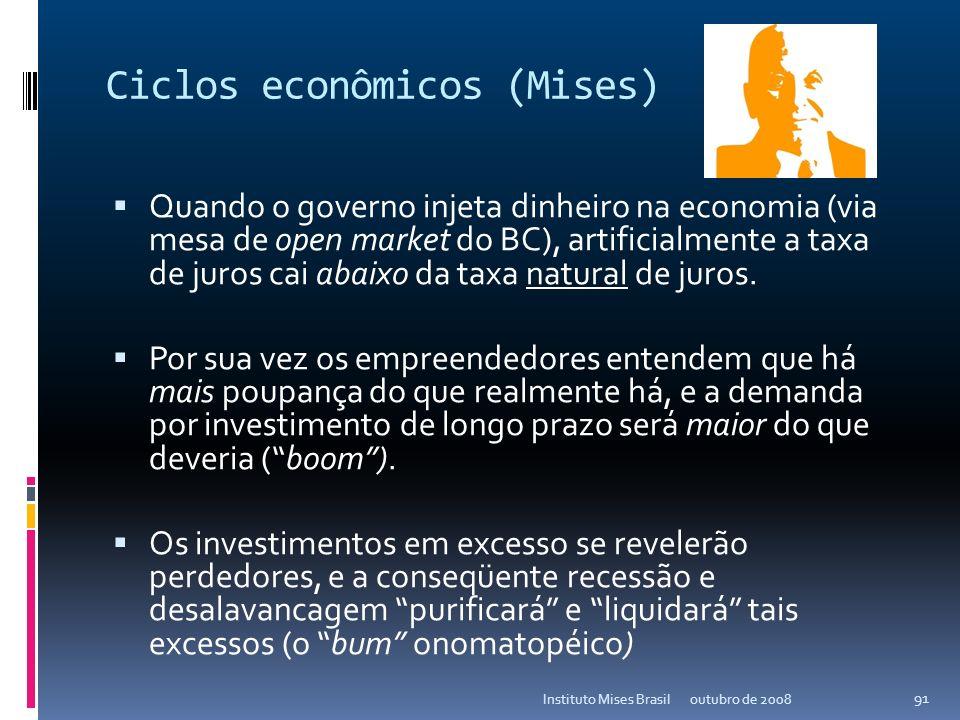 Tecnologia avançada... outubro de 2008Instituto Mises Brasil 90