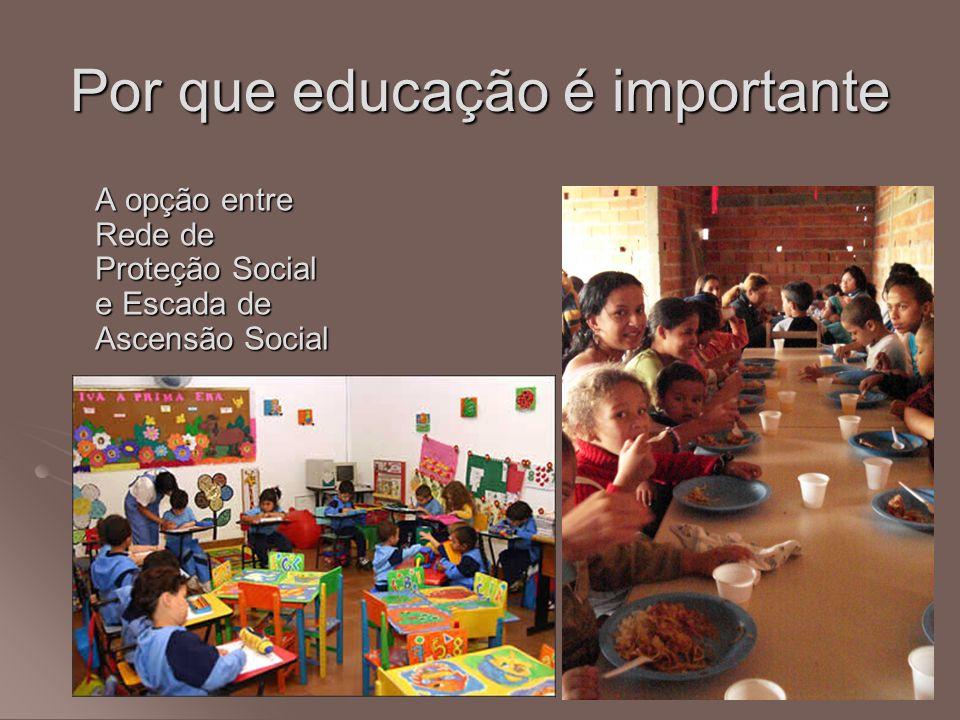 Por que educação é importante A opção entre Rede de Proteção Social e Escada de Ascensão Social