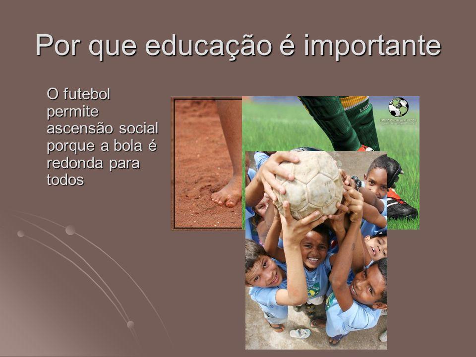 Por que educação é importante O futebol permite ascensão social porque a bola é redonda para todos