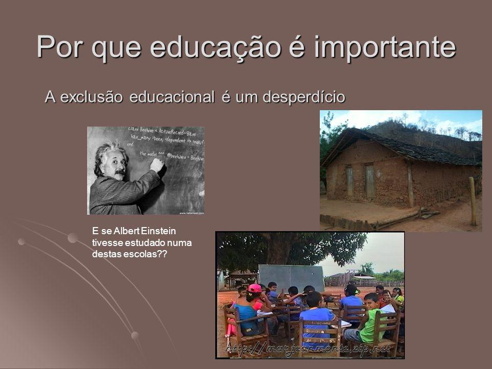 Por que educação é importante A exclusão educacional é um desperdício E se Albert Einstein tivesse estudado numa destas escolas??