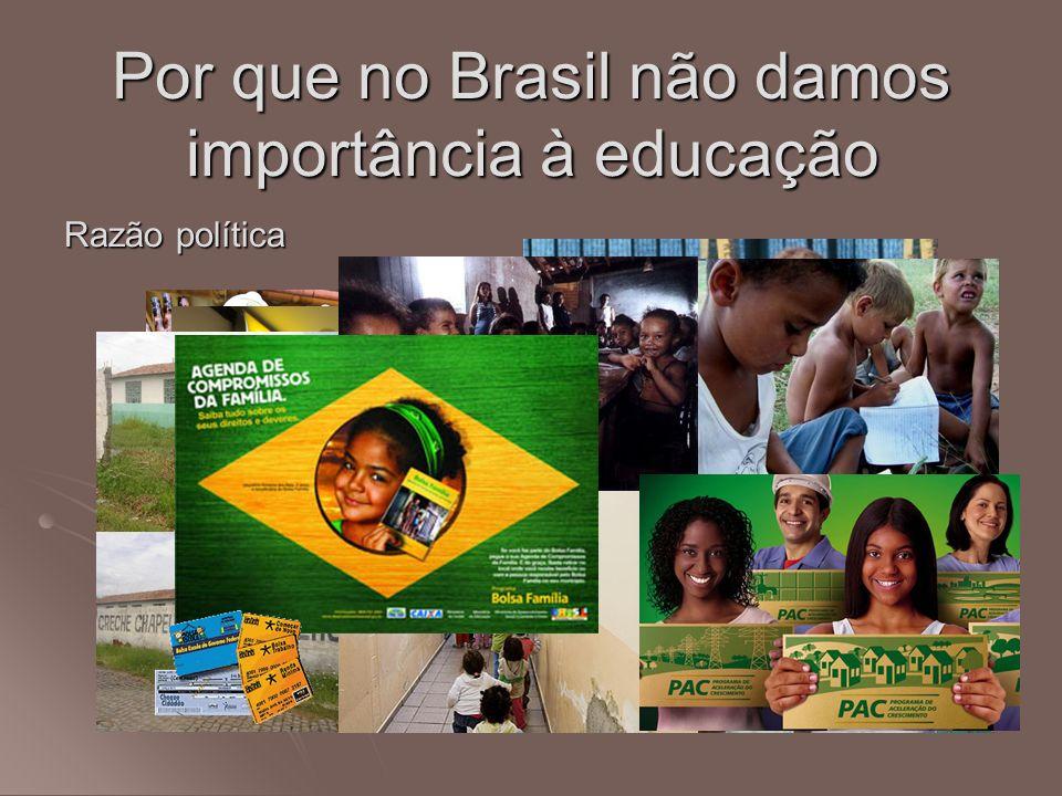 Por que no Brasil não damos importância à educação Razão política
