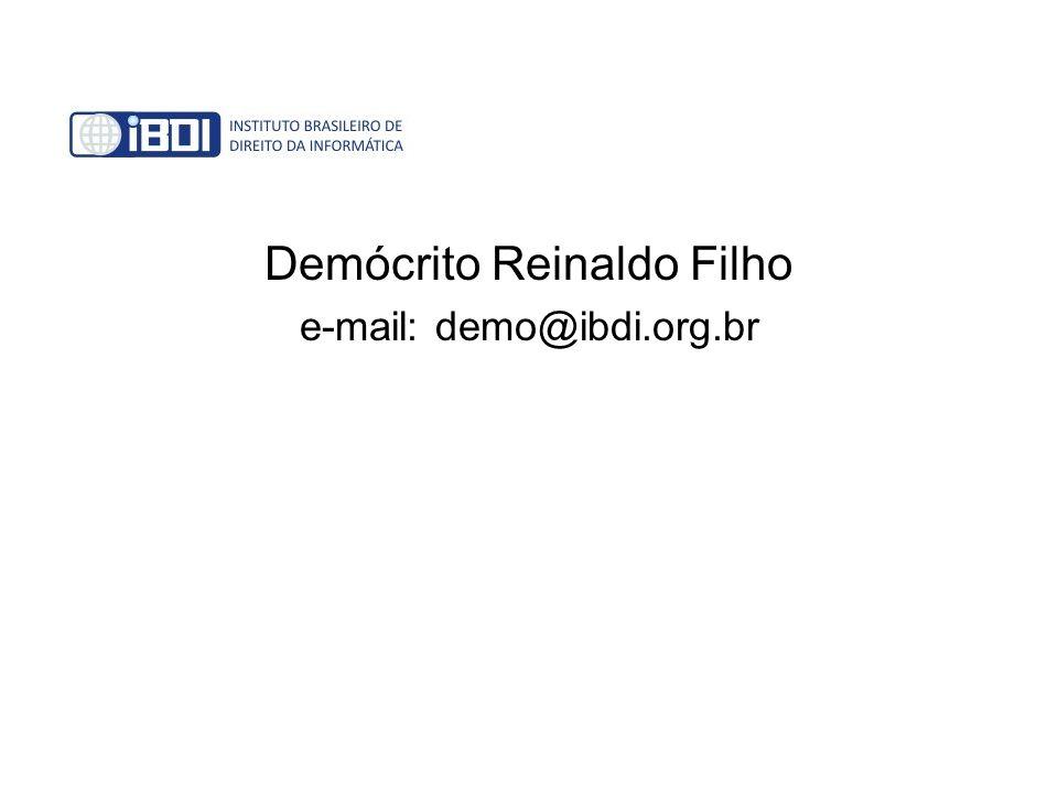 Demócrito Reinaldo Filho e-mail: demo@ibdi.org.br