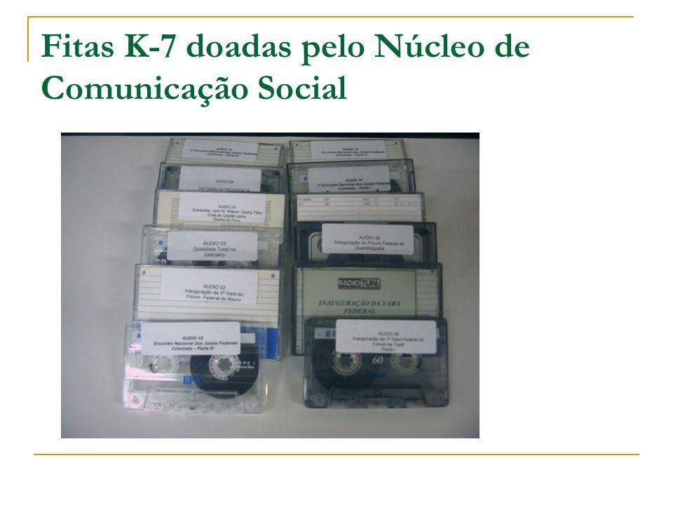 Fitas K-7 doadas pelo Núcleo de Comunicação Social