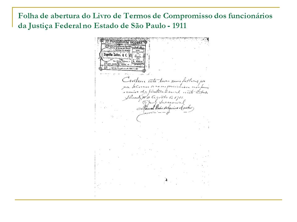 Termo de compromisso para o lugar de primeiro suplente do substituto do juiz federal no município de Cotia