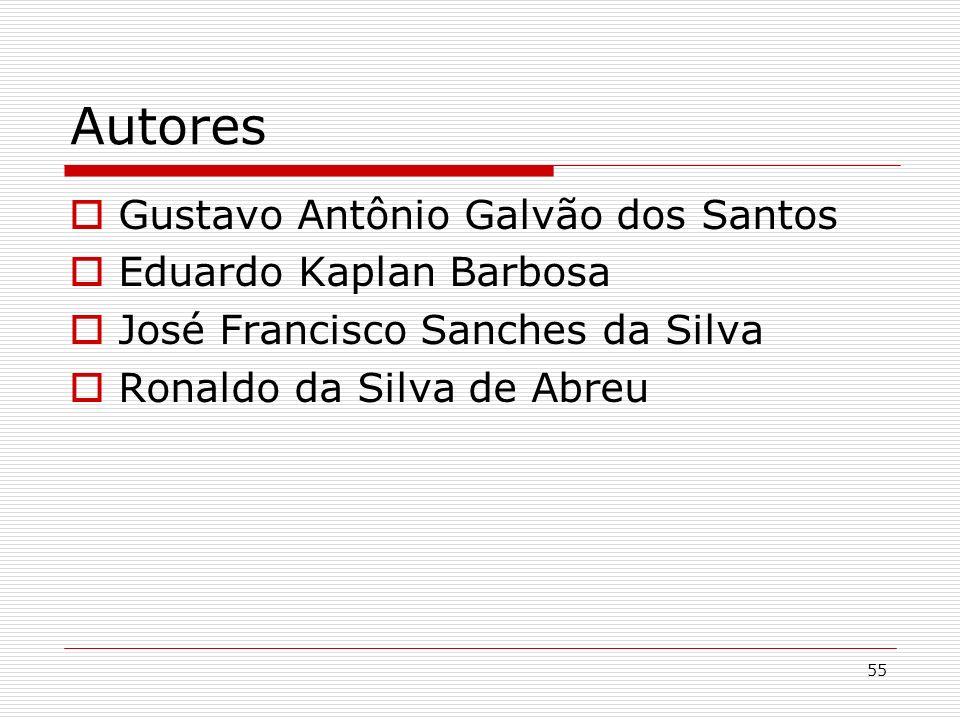 55 Autores Gustavo Antônio Galvão dos Santos Eduardo Kaplan Barbosa José Francisco Sanches da Silva Ronaldo da Silva de Abreu