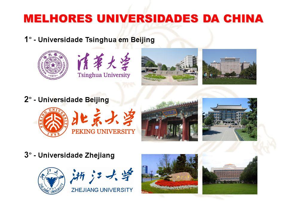 MELHORES UNIVERSIDADES DA CHINA 1 ° - Universidade Tsinghua em Beijing 2 ° - Universidade Beijing 3 ° - Universidade Zhejiang