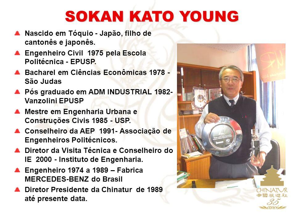 SOKAN KATO YOUNG Nascido em Tóquio - Japão, filho de cantonês e japonês. Engenheiro Civil 1975 pela Escola Politécnica - EPUSP. Bacharel em Ciências E