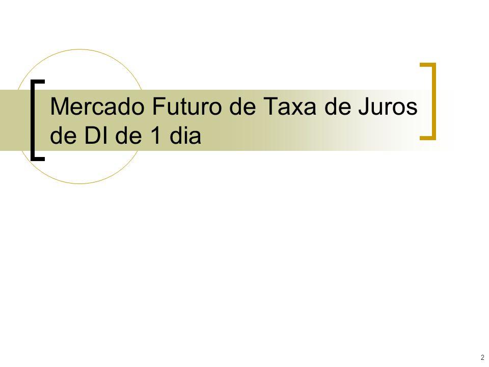 2 Mercado Futuro de Taxa de Juros de DI de 1 dia