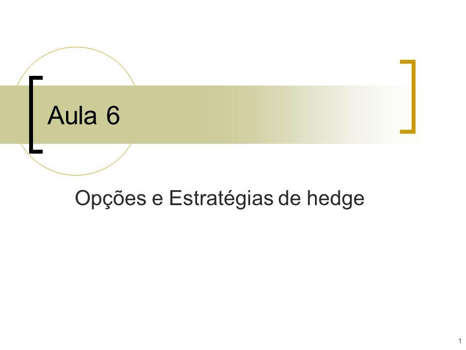 1 Aula 6 Opções e Estratégias de hedge