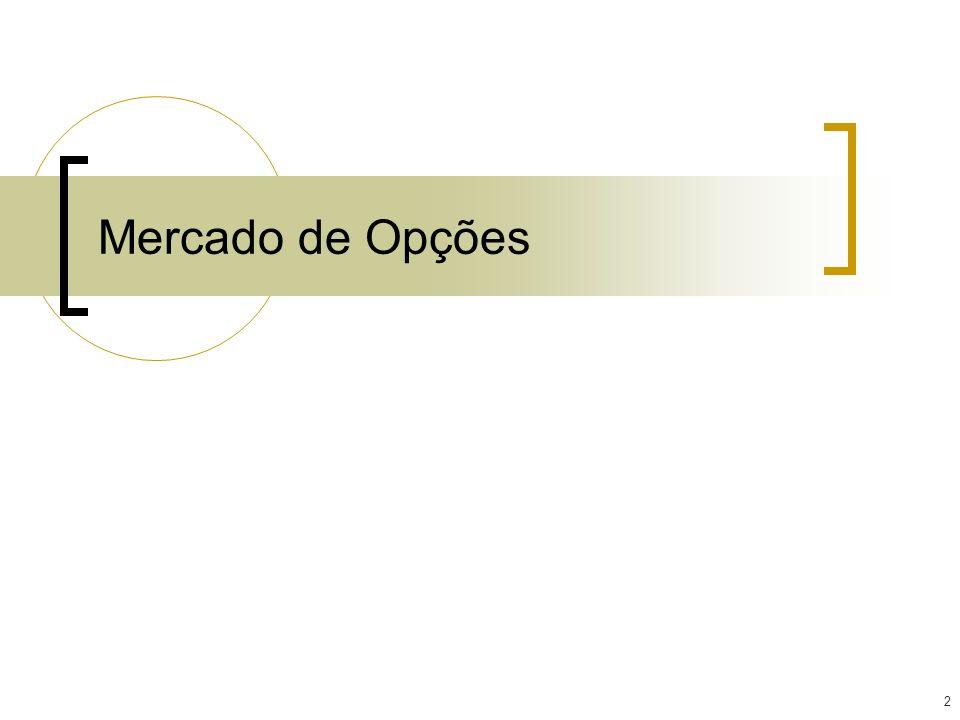 13 Classificações das Séries As séries de opções são classificadas de acordo com o preço de exercício e o preço à vista do ativo-objeto observado no momento.