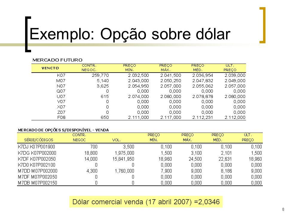 29 Exercício 2 – zero cost exportador