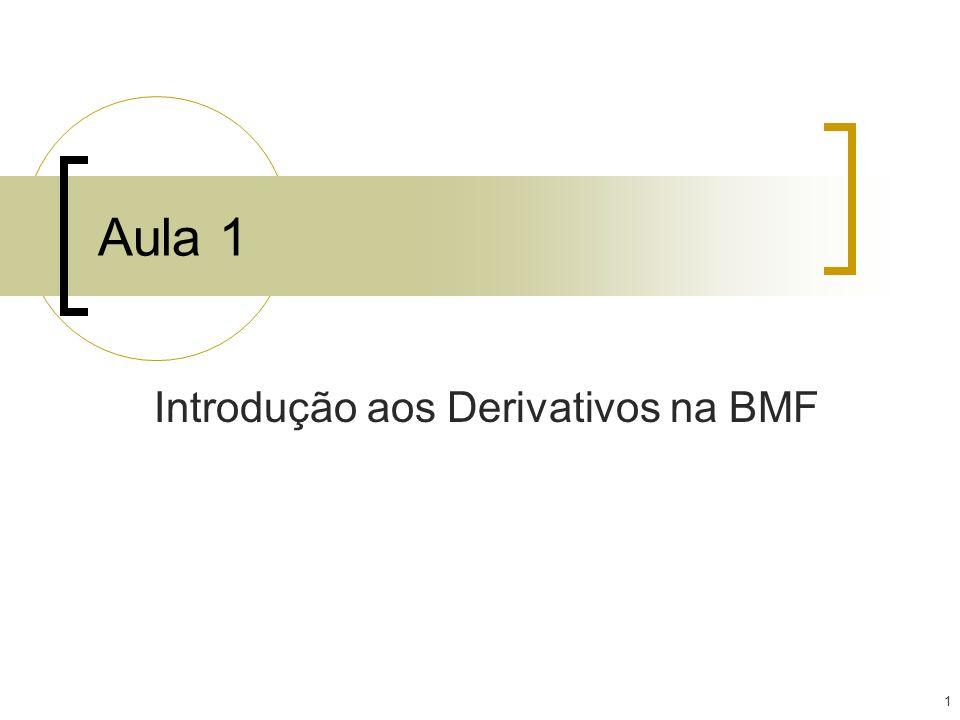 1 Aula 1 Introdução aos Derivativos na BMF