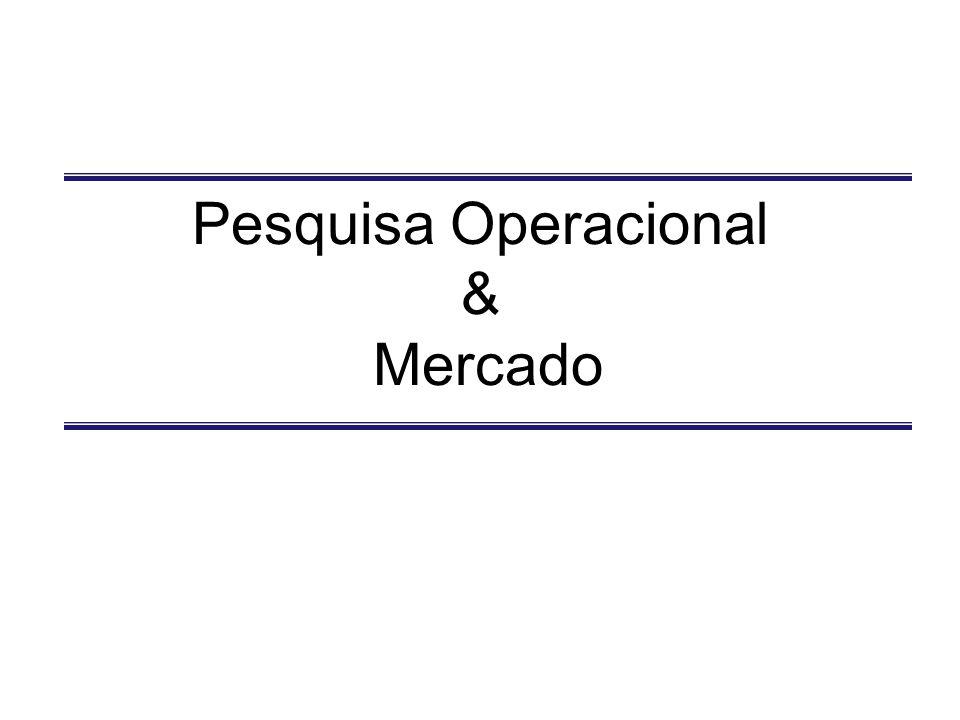 Pesquisa Operacional & Mercado
