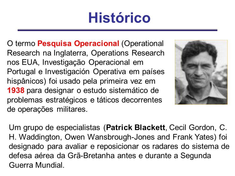 O termo Pesquisa Operacional (Operational Research na Inglaterra, Operations Research nos EUA, Investigação Operacional em Portugal e Investigación Op