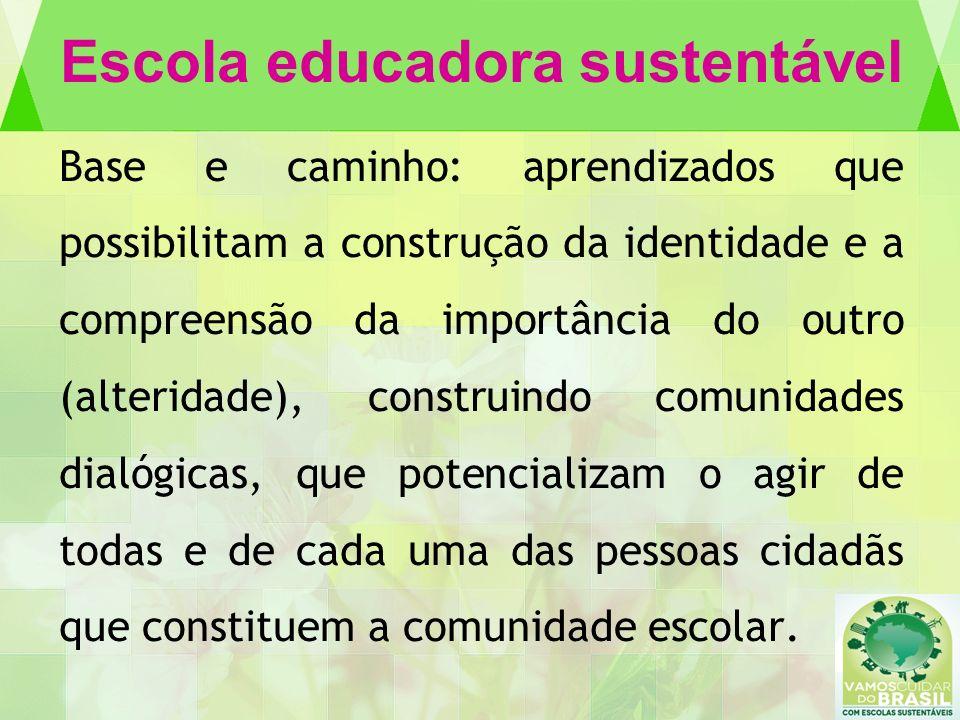 Escola educadora sustentável Base e caminho: aprendizados que possibilitam a construção da identidade e a compreensão da importância do outro (alterid