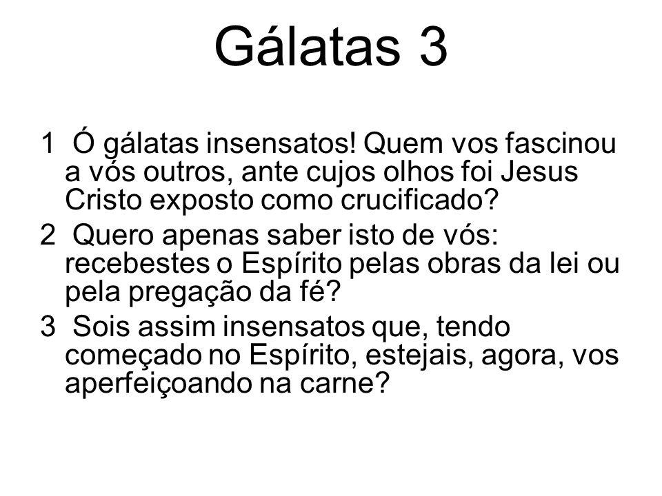 Gálatas 3 4 Terá sido em vão que tantas coisas sofrestes.