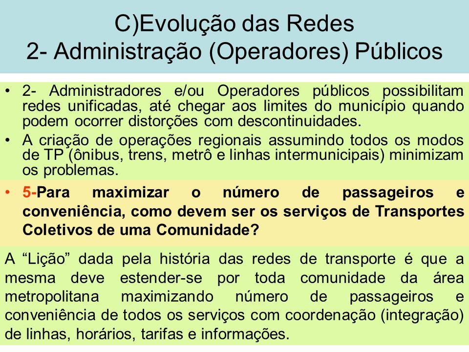 14 2- Administradores e/ou Operadores públicos possibilitam redes unificadas, até chegar aos limites do município quando podem ocorrer distorções com