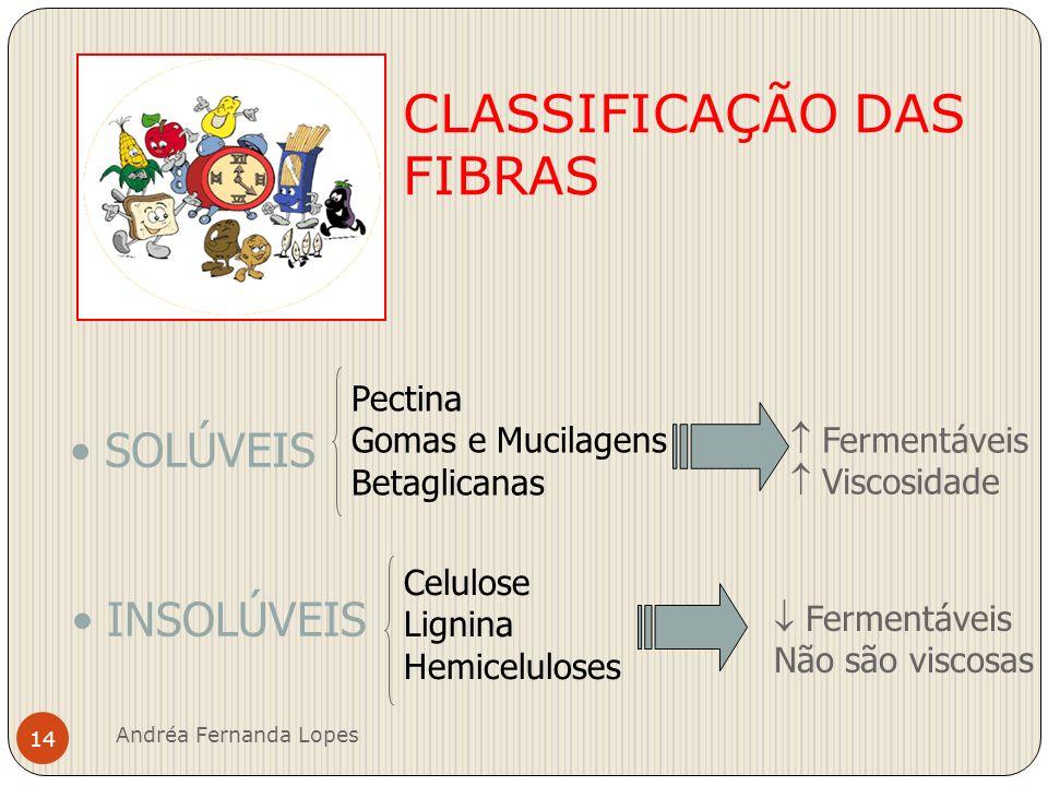 Fibras Solúveis Pectinas e goma-guar Fornecem cerca de 3,5 kcal/g Fermentadas formando AGCC - Ácidos Graxos de Cadeia Curta.