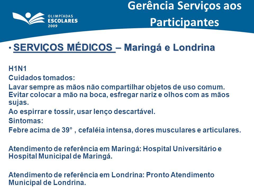SERVIÇOS MÉDICOS – Maringá e Londrina H1N1 Cuidados tomados: Lavar sempre as mãos não compartilhar objetos de uso comum. Evitar colocar a mão na boca,