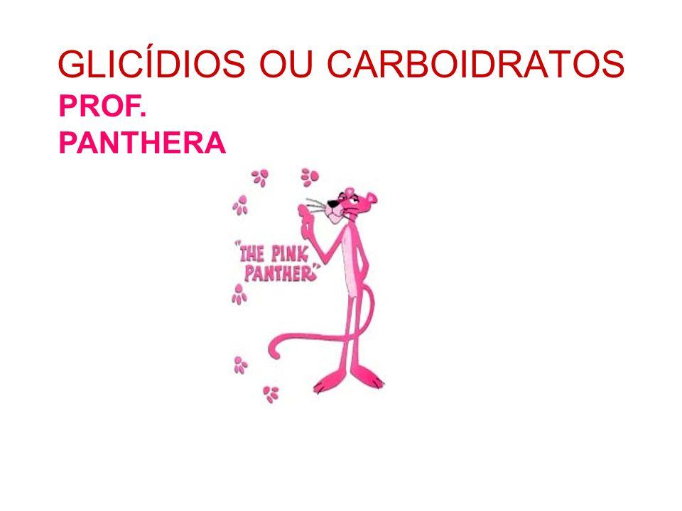 GLICÍDIOS OU CARBOIDRATOS PROF. PANTHERA