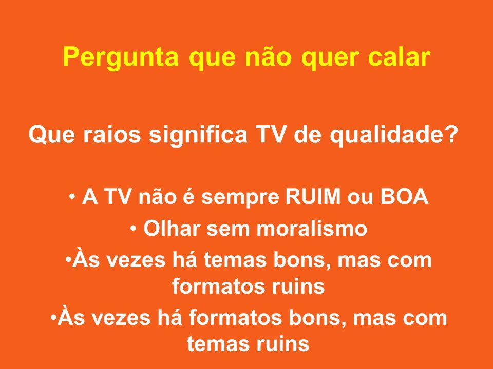 3 aspectos sobre a mídia brasileira 1.TVs são concessões públicas 2.Prevalece a mídia comercial 3.Há concentração de propriedade, portanto concentração de poder