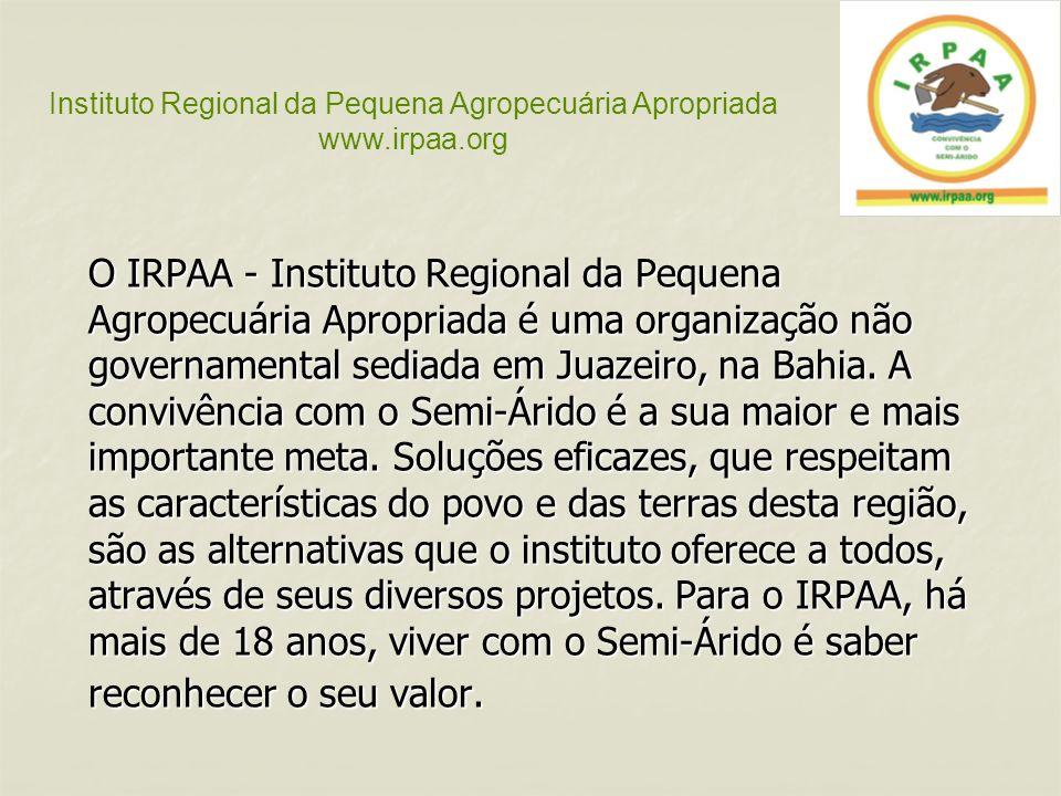 O IRPAA - Instituto Regional da Pequena Agropecuária Apropriada é uma organização não governamental sediada em Juazeiro, na Bahia. A convivência com o
