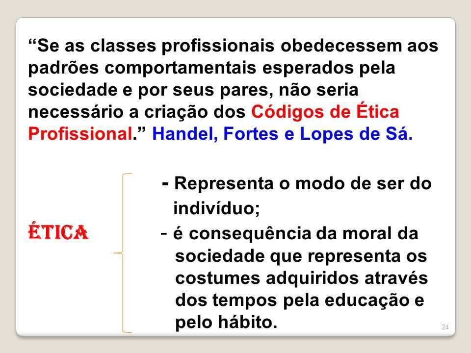 Se as classes profissionais obedecessem aos padrões comportamentais esperados pela sociedade e por seus pares, não seria necessário a criação dos Códi