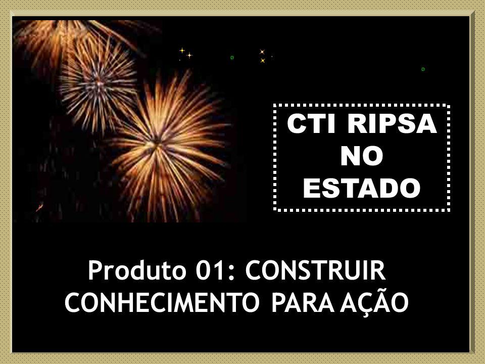 CTI RIPSA CTI RIPSA NO ESTADO Produto 01: CONSTRUIR CONHECIMENTO PARA AÇÃO