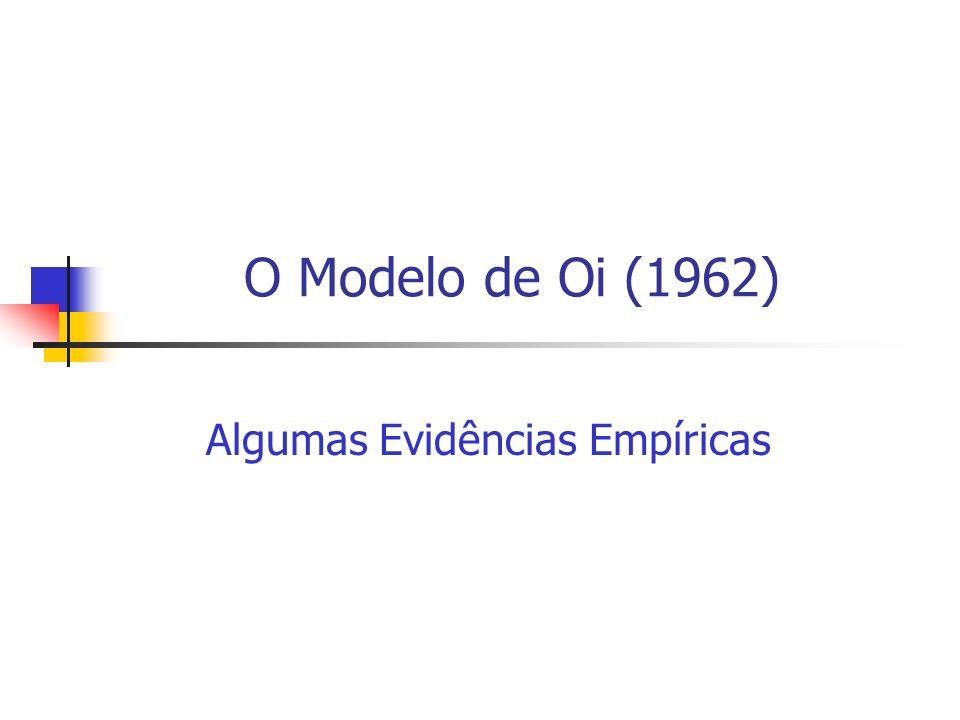 O Modelo de Oi (1962) Algumas Evidências Empíricas