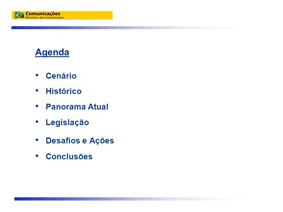Agenda Cenário Histórico Panorama Atual Legislação Desafios e Ações Conclusões