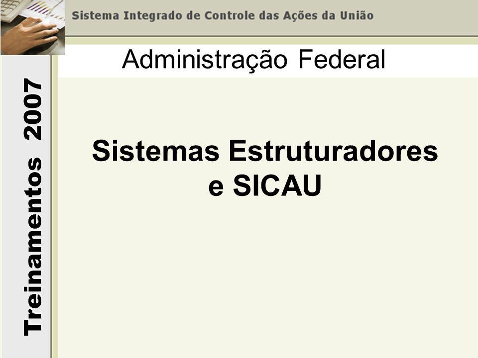 Treinamentos 2007 Administração Federal Sistemas Estruturadores e SICAU