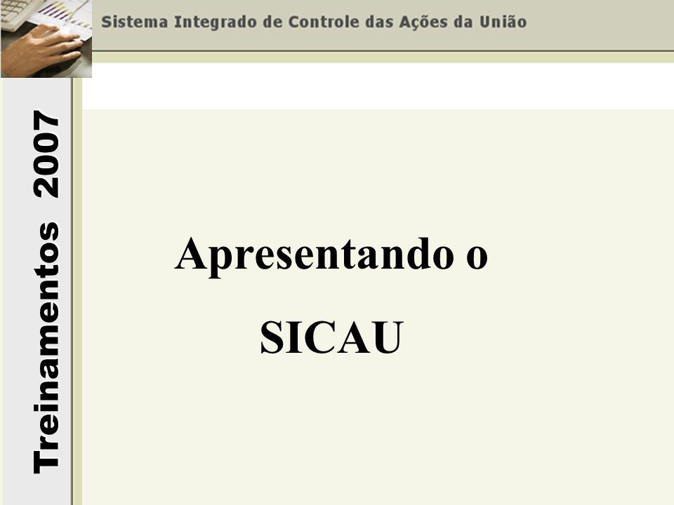 Treinamentos 2007 Apresentando o SICAU