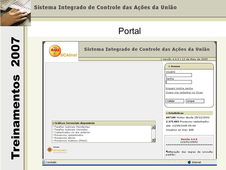 Treinamentos 2007 Portal